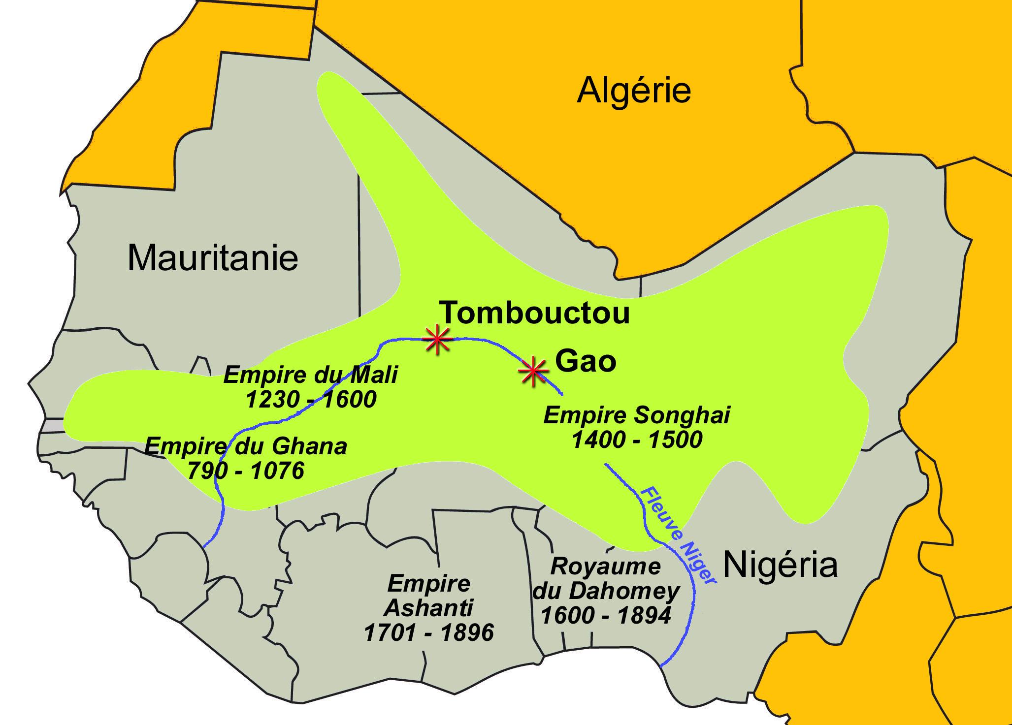 Carte De Lafrique Centrale Pdf.Carte Des Royaumes Et Empires D Afrique Avant La Colonisation