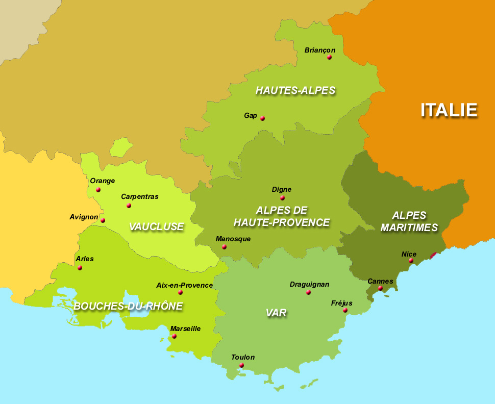 Info region paca departement carte - Salon de provence departement ...